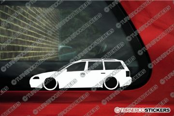 2x Low car outline stickers - for Volkswagen VW Passat B5.5 (B5 facelift) estate variant kombi